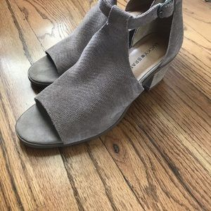 LUCKY BRAND Baxley Ankle  Leather Suede Sandal